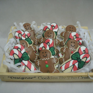Great Christmas Gift Idea, Christmas Cookie Basket, Christmas Cookies, Holiday Gift for Him, Holiday Gift for Her, Family Holiday Gift Idea
