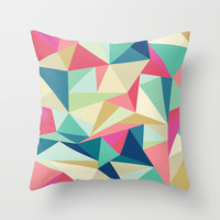 Bright Geometric Triangles  Throw Pillow Promoters