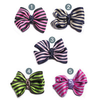 Stripe Ribbon Hair clip, hair pin, hair accessory for women and kids,