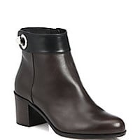 Fendi - Leather Booties - Saks Fifth Avenue Mobile