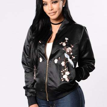 See You In The Sideline Jacket - Black