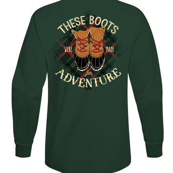 'These Boots Were Made for Adventure' Long Sleeve Tee