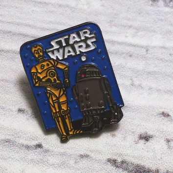 Star Wars Pin . Vintage Enamel Badge . Star Wars Movie Memorabilia .