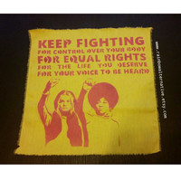 Keep Fighting back patch feminist art feminism street art by Rainbow Alternative power to the people punk patch feminist gift guide