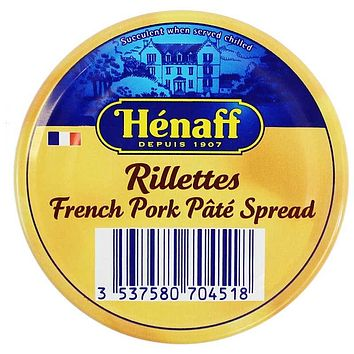 Henaff French Pork Pate Spread Rillettes 4.5 oz. (127g)