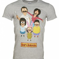 Men's Grey Marl Bob's Burgers T-Shirt