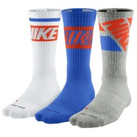 Nike 3PK Dri-Fit Fly Rise Crew Socks - Men's