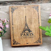 Paris Eiffel Tower of Love Antique Wooden Storage Decorative Box