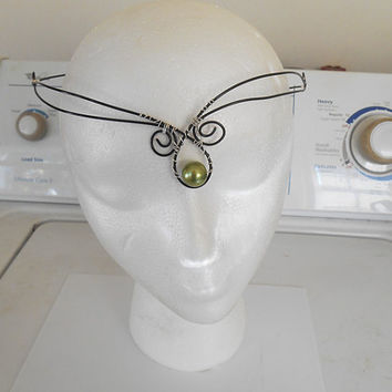 Medieval Celtic Wedding Crown Headpiece Elven Festival