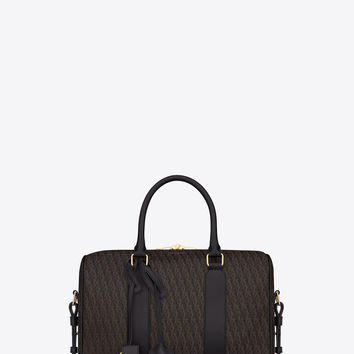 Saint Laurent CLASSIC Toile Monogram DUFFLE 6 BAG In Black Printed Canvas And Leather | ysl.com
