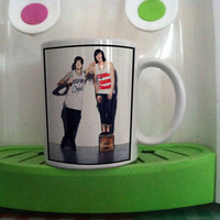 Kellin Quinn and Austin Carlile white mug === custom mug one and two side