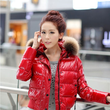 2016 France Duck Down Anorak Jacket Brand Women Parka Lovers Warm Loose Coat Fashion Outwear Clothing