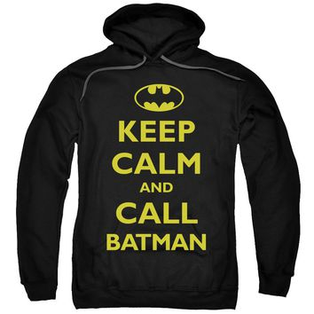 Batman - Call Batman Adult Pull Over Hoodie