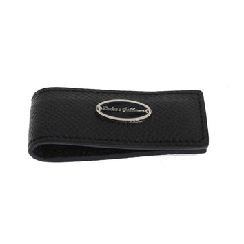 Dolce & Gabbana Blue Leather Magnet Money Clip