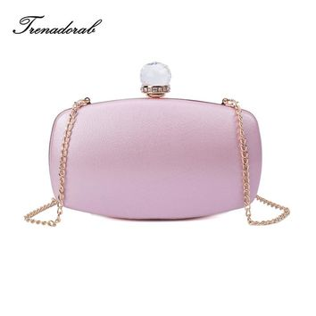 Satin Clutch Evening Bag Diamonds women clutch bags and purses Pink Ladies Handbag Shoulder Bag For Wedding/Dating/Party/Dinner