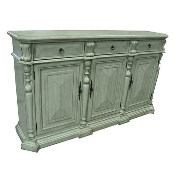 Crestview Living Room Sterling 3 Drawer/3 Door British Grey Sideboard By Crestview Collection Cvfzr1870
