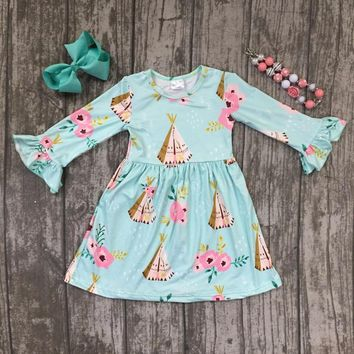 Campfire Girls Floral Mint Dress