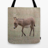 Miniature Donkey Foal Tote Bag by Veronica Ventress