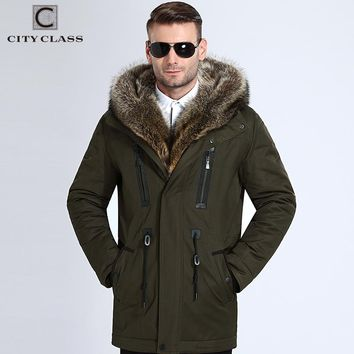 Fur Winter Jackets Men Super Warm Camel Hairs Filling with Raccoon Fur Hood Exclusive Luxurious Coats