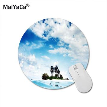 MaiYaCa Trees On The Small Island Round 200*200*2mm Mouse Pad Mousepad Computer PC Laptop Comfort Gaming Mouse Pad