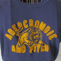 Abercombie and Fitch Vintage Tshirt AF Purple Shirt Abercombie sz M Purple Lion Shirt