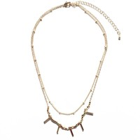 Bar Charm Layer Necklace