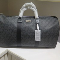 Michael Kors Black Signature MK Extra Large Travel Duffel Luggage Bag MSRP $498