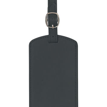 Royce Leather Classic Leather Luggage Tag - Black