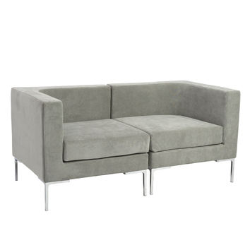 Eurostyle Vittorio Gray Sofa with Arms Unit