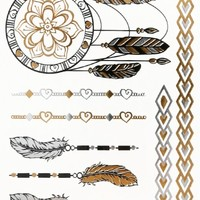 Dreamcatcher Flash Tattoo Set | MakeMeChic.com