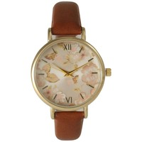 Olivia Pratt Women's Petite Leather Vintage Roses Watch | Overstock.com Shopping - The Best Deals on More Brands Women's Watches
