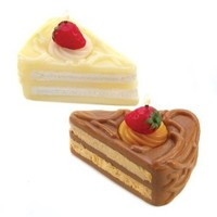 Pastry Shop Chocolate Vanilla Cake Scent Figural Candle