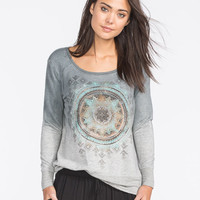 Full Tilt Arrow Dip Dye Womens Sweatshirt Multi  In Sizes