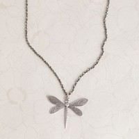 Etched Dragonfly Necklace By Anne Koplik