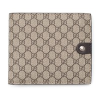 Gucci Cocoa Beige Canvas Leather Wallet Micro Guccissima 334715