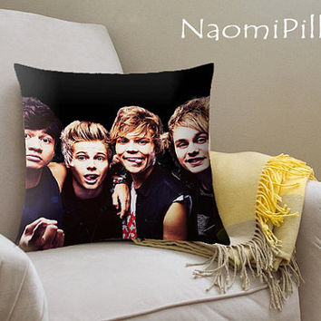 5SOS Australian Band Pillow Cover Printed_18x18,16x24,20x30_Modern Pillow Case_Decorative Throw Pillow Case_One Side Printing