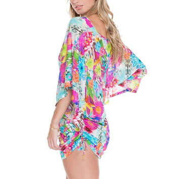 Luli Fama Cabana V-Neck Dress - Paraiso