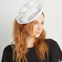 Vintage Inspired You Know You Flaunt It Fascinator in White by ModCloth