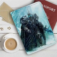 The Lich King World of Warcraft Leather Passport Wallet Case Cover