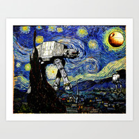 Starry Night versus the Empire Art Print by Kamonkey