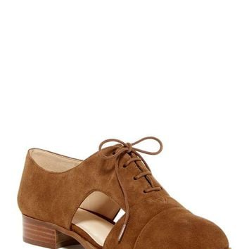DCCKHB3 Nine West | Suede Cut-Out Lace Oxford