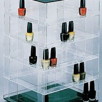 Nail Polish Rack Display Rotating Fits up to 140 Bottles