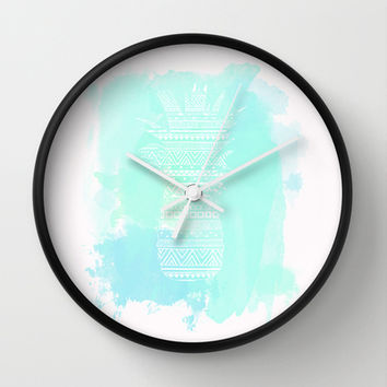 Watercolor Paradise  Wall Clock by Sunkissed Laughter