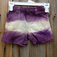 Baby's Dip Dyed Purple Shorts