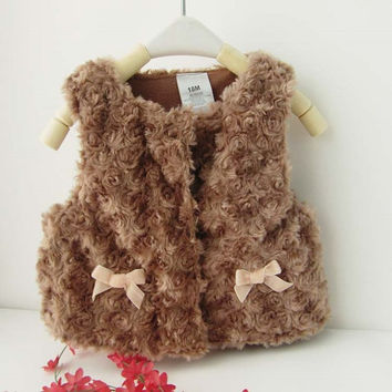 Choice of Baby Girls Faux fur Vests
