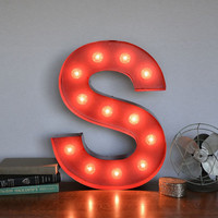 Vintage Inspired Marquee Light- Letter S