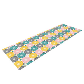 "Nandita Singh ""Christmas Celebration"" Teal Pink Yoga Mat"