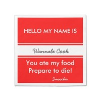 Funny Hello my name is Customizable Party Napkins
