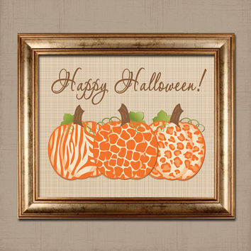 INSTANT DOWNLOAD DIY Printable Happy Halloween Holiday Pumpkin 8x10 Print Quote Word Wall Art Decor