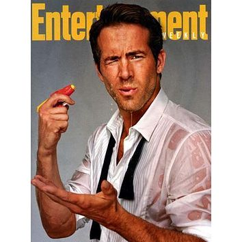 Ryan Reynolds Entertainment Weekly poster Metal Sign Wall Art 8in x 12in